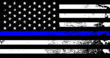 American Flag With Police Supp...