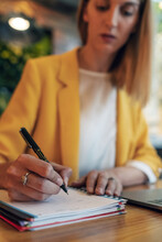 Blurred Businesswoman In Elega...