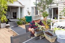 Side View Of Senior Male Pensi...