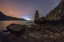 Night Landscape Of Beach On Th...