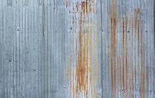 Old Zinc Wall Surface Fence House Zinc Background