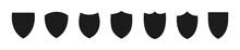 Shield Icon Set. Protection Fl...