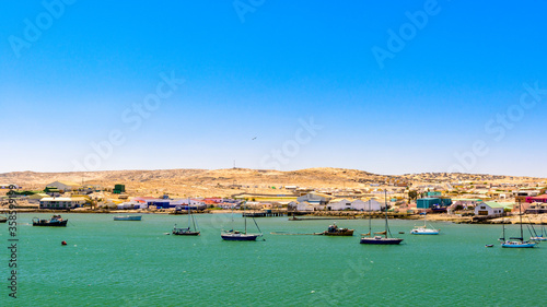 It's Port of the Shark Island, a small peninsula adjacent to the coastal city of Luderitz in Namibia Canvas Print