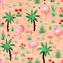 Flamingos Seamless Repeating P...