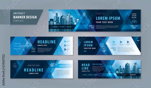 Fototapeta Abstract banner design web template Set, Horizontal header web banner obraz