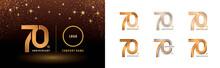Set Of 70th Anniversary Logoty...