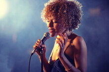 Black Female Singer Performing...