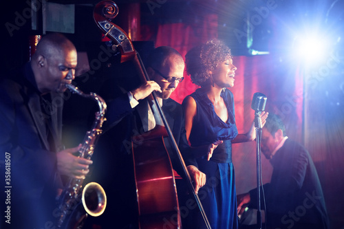 Jazz Band playing on Stage Wallpaper Mural
