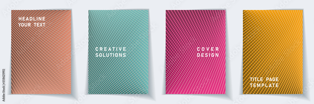Fototapeta Cover page abstract layout vector design set.