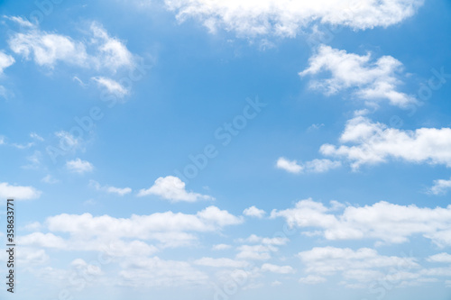 blue sky with white clouds - perfect for sky replacement Fototapet
