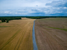 Aerial View Of A Gravel Road O...