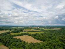 Aerial View Of Farmland Near P...
