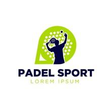 Padel Sport Logo Designs Simple Modern