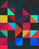 trippy psychedelic colorful neon geometric shapes abstract background