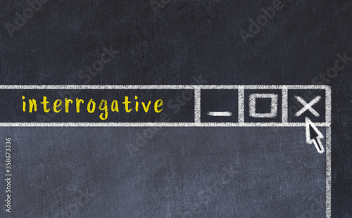 Chalk drawig of browser window with inscription interrogative Slika na platnu