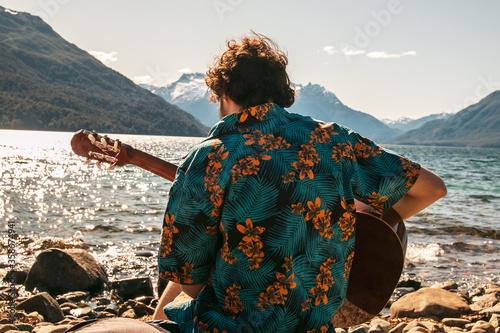 Fototapeta Patagonia Argentina enero trekking y mochilero obraz