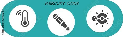Fotografie, Obraz mercury icon set