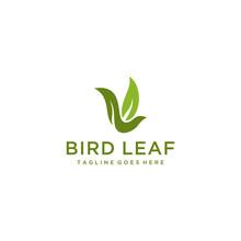 Creative Modern Leaf Bird Log...