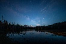 Milky Way And Stars Over Mount...