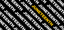 Juneteenth Black And Yellow Banner