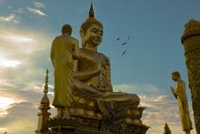 Big Yellow Gold Buddha Statue ...