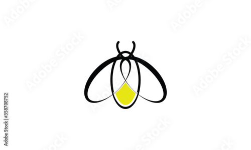 vector illustration of a firefly