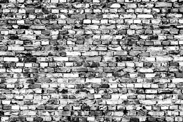 Fototapeta Architektura Black and white old brick wall texture background for your text