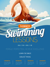 Swimming Lesson Promotion Poster