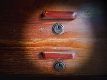 The Keys On The Wooden Drawers...
