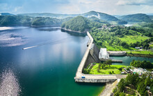 The Solina Dam Aerial View, La...