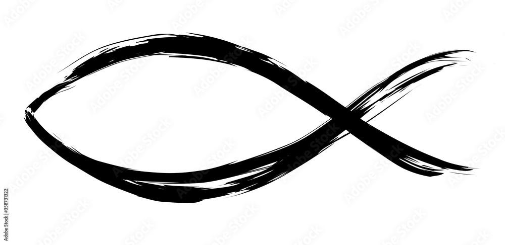 Fototapeta christian symbol fish