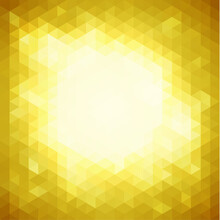 Abstract Yellow Geometric Back...