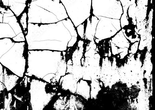 Fotomural Cracked wall photo/ひび割れた壁
