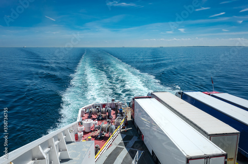 Valokuvatapetti Ferry carrying freight across the English Channel