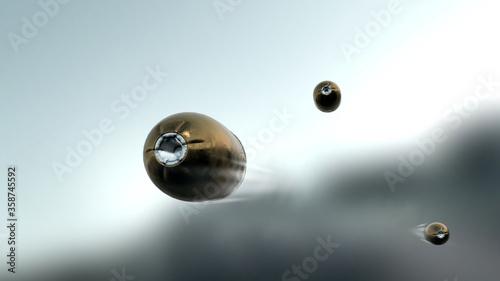 Photo Flying bullets, slow motion (Shallow DOF)