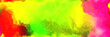 Leinwandbild Motiv abstract watercolor background with watercolor paint with crimson, yellow and neon green colors and space for text or image