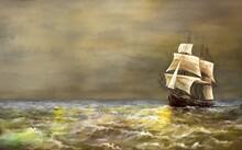 Digital Oil Paintings Sea Land...