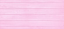 Pink Painted Wooden Board Wide Texture. Pastel Rose Color Wood Plank Widescreen Rustic Shabby Chic Background