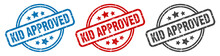 Kid Approved Stamp. Kid Approv...
