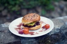 Beef Hamburger With Chees, Oni...