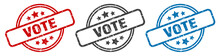 Vote Stamp. Vote Round Isolate...