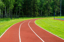 Red Rubber Running Track In A ...