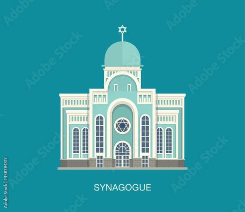 Photo Jewish synagogue template