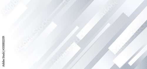 Fotografía Abstract  geometric white and gray diagonal lines background.