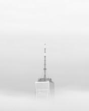 One World Trade Center In Fog