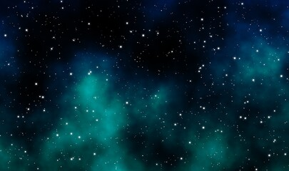 Space scape illustration graphic design background
