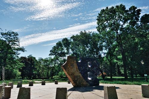 Fotografia, Obraz Park miejski w centrum miasta
