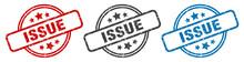 Issue Stamp. Issue Round Isola...