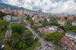 Medellín, Antioquia, Colombia. June 12, 2018: Panoramic view of El Poblado