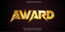 Award Text, Shiny Gold Style E...